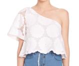 NICHOLAS Sunflower Lace One-Shoulder Top