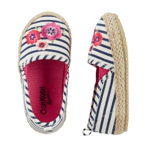 Baby Girl OshKosh Embroidered Stripe Espadrilles | OshKosh.com