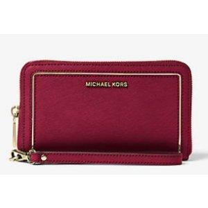 Jet Set Travel Large Leather Phone Case | Michael Kors