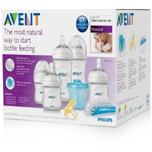 Philips Avent Natural Newborn Baby Bottle Starter Set, BPA-Free
