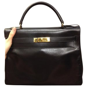 black Leather HERMÈS Handbag - Vestiaire Collective