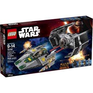 LEGO Star Wars Vader's TIE Advanced vs. A-Wing Starfighter 75150