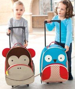 Skip Hop Zoo Little Kid Luggage, Owl