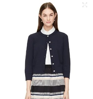 jewel button cropped cardigan @ kate spade