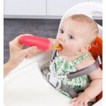 Boon Squirt Silicone Baby Food Dispensing Spoon, Orange