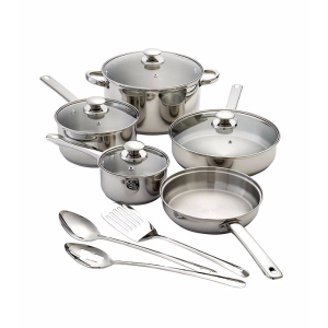 Chef's Quarters® 12-pc. Stainless Steel Cookware Set® | Bon-Ton
