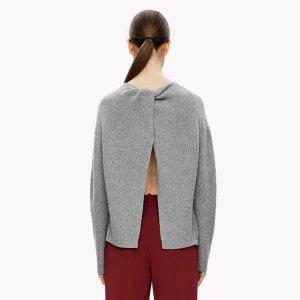 Cashmere Twist-Back Sweater