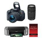 Canon T5i 相机+18-55mm+75-300mm+打印机+相纸+相机包