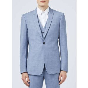 Limited Edition Light Blue Skinny Fit Suit Jacket
