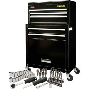 Stanley Rolling Tool Chest with Bonus 68-Piece Mechanic Set