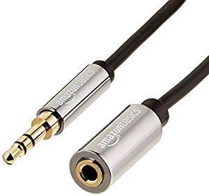 超低价+超长线程!$6.99AmazonBasics 3.5mm 音频延长线 25英尺 (7.62米)
