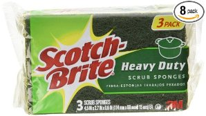 $10.11Scotch-Brite Scrub Sponge, Heavy Duty, 3-Count (Pack of 8)