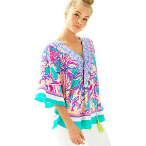 Lettie Silk Caftan Top | 24266 | Lilly Pulitzer