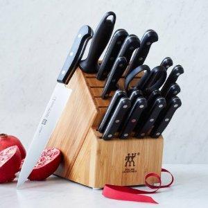 Zwilling J.A. Henckels Twin Gourmet 18-Piece Knife Block Set | Sur La Table