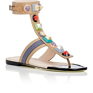 Fendi Studded Leather Gladiator Sandals | Barneys New York
