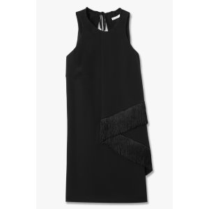 Draped Front Dress - Black