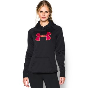 Under Armour Womens Big Logo Rival Pullover Hoodie