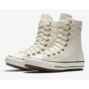 CONVERSE CHUCK TAYLOR ALL STAR LEATHER AND FAUX FUR HIGH RISE