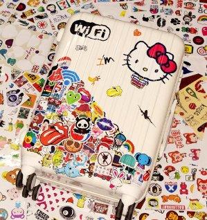 Korlen 100pcs Car Motorcycle Bicycle Skateboard Laptop Luggage Vinyl Sticker Graffiti Laptop Luggage Decals Bumper Stickers