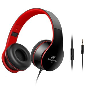 Sound Intone Lightweight Folding 3.5mm Stereo Over-ear Portable Stretch Headsets
