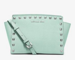Selma Medium Studded Leather Messenger  @ Michael Kors