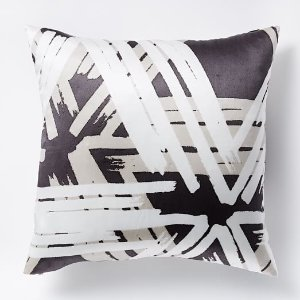 Optic Prism Pillow Cover - Iron | west elm