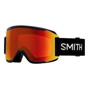 Smith Squad Optics Ski Goggles (Black Frame/Red Sensor Mirror/RC36 Lens) | Focus Camera