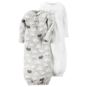 Baby Neutral 2-Pack Babysoft Sleeper Gowns | Carters.com