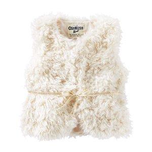 Kid Girl Faux Fur Vest | OshKosh.com