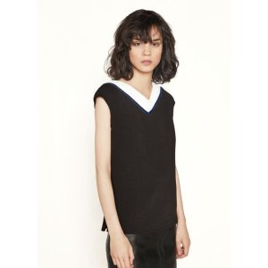 LIBELLULE Top with velvet braid - Tops - Maje.com