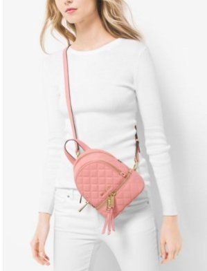 Rhea Extra-Small Quilted-Leather Backpack  @ Michael Kors
