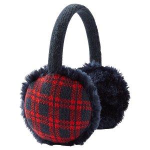 Kid Girl Faux Fur Plaid Earmuffs | OshKosh.com