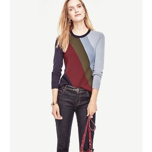 Colorblock Milano Sweater | Ann Taylor