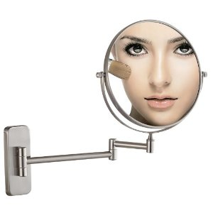 From $15.99 GuRun 8-Inch Antique Double-Sided Wall Mount Makeup Mirrors with 7x Magnification,Nickel Finish M1406N(8in,7x)