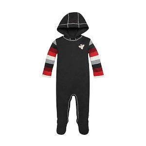 Stripe Sleeve Hooded Coverall