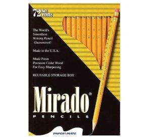 Paper Mate Mirado Classic Woodcase Pencils, HB #2, Box of 72