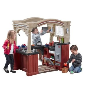 Step2 Grand Walk-in-Kitchen Tan/Maroon/Black Playset