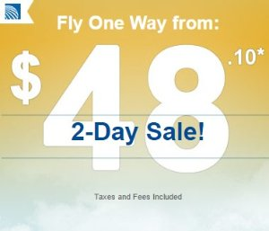 One Way From $48.1Big Sale on United Airlines@CheapOair