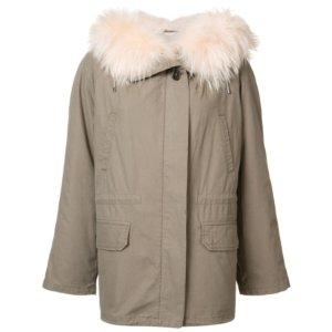 Army Yves Salomon Short Parka Coat| Kirna Zabete