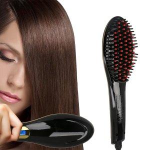 $17.99 Black Hair Straightener Detangler Brush Electric Comb