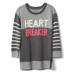 Heartbreaker intarsia sweater tunic | Gap
