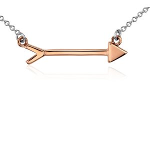 Arrow Necklace in Sterling Silver and Rose Gold Vermeil | Blue Nile