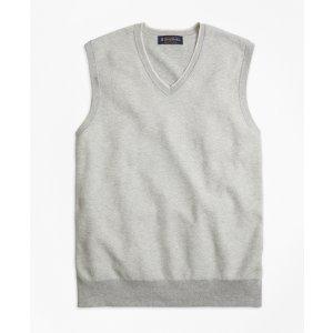 Supima® Cotton Twill Stitch Vest - Brooks Brothers