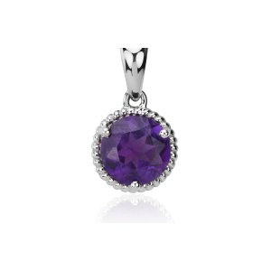 Amethyst Rope Pendant in Sterling Silver (7mm) | Blue Nile