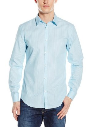 $17.73 Calvin Klein Men's Stripe Long-Sleeve Button Down Shirt