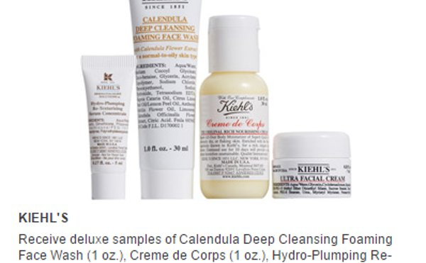 Free 4-Piece Deluxe Samples with Your $85 Kiehl's Purchase ...
