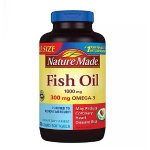 Nature Made Fish Oil 1000mg, 300mg Omega-3, 200 Liquid Softgels