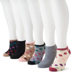 Women's SONOMA Goods for Life™ 6-pk. Graphic No-Show Socks