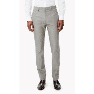 Stretch Cotton Twill Slim Trouser