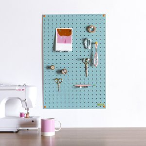 Block Light Blue Pegboard with Wooden Pegs